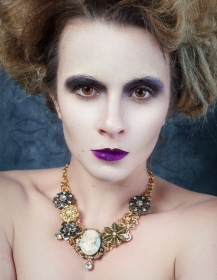 Published in Conceptual Magazine (2017) Photography: Images by Kerri Jean MUA: Julie Powers Hair: Chie Sharp Designer: Darkspectre Custom Couture Jewelry Designer: Serket Jewelry Location: Shutterfest 2017